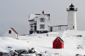Nubble Light Snow